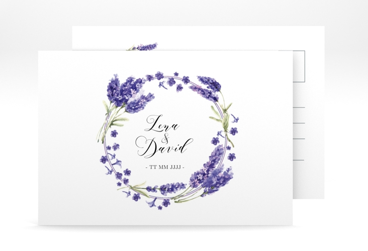 "Save the Date-Postkarte ""Lavendel"" A6 Postkarte"