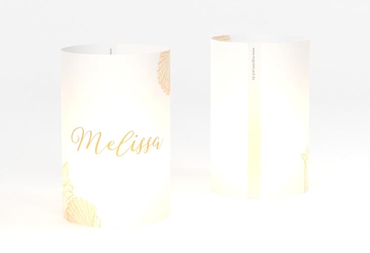 """Windlicht Hochzeit """"Muschelreich"""" Windlicht beige"""