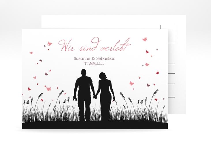 "Verlobungskarte Hochzeit ""Rouen"" A6 Postkarte"