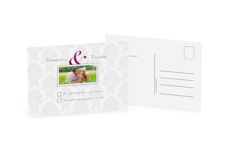 Biglietti risposta matrimonio collezione Nantes A6 Postkarte