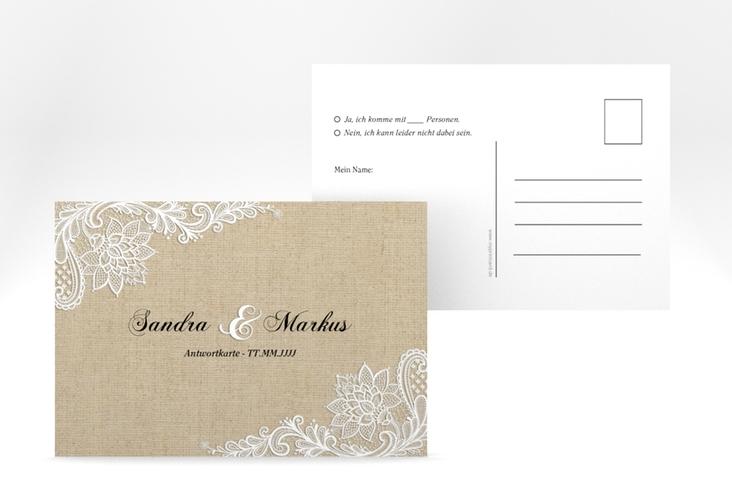 "Antwortkarte Hochzeit ""Lace"" A6 Postkarte"