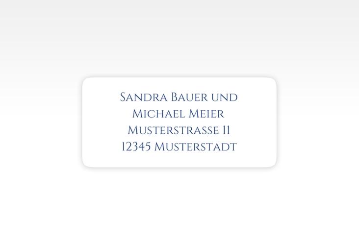 """Absenderetikett Hochzeit """"Delight"""" 45,7 x 21,2 mm blau"""