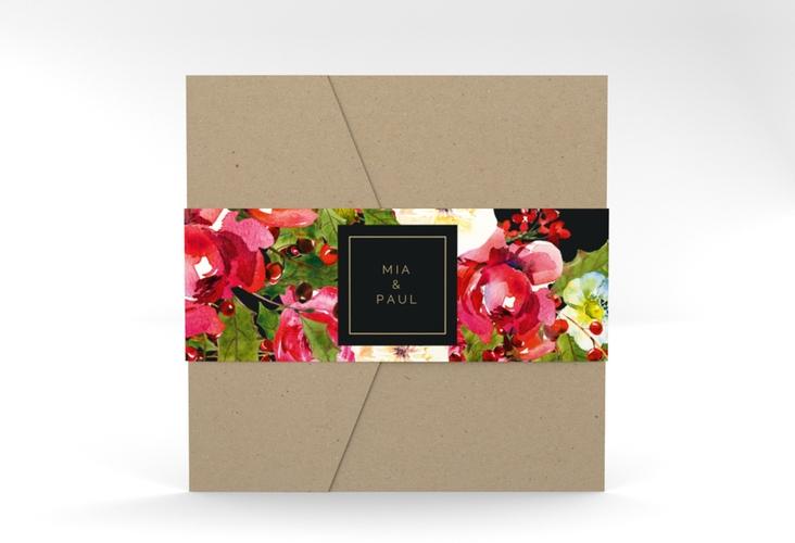 """Hochzeitseinladung """"Blumenpracht"""" Pocketfold"""