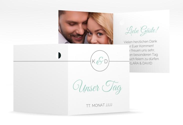 """Geschenkanhänger Hochzeit """"Unique"""" Geschenkanhänger 10er Set tuerkis"""