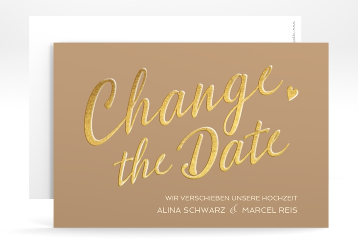 "Change the Date-Karte ""Glam"" A6 quer"