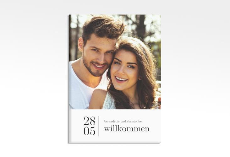 """Willkommensschild Hochzeit """"Minimal"""" 50 x 70 cm Leinwand weiss"""