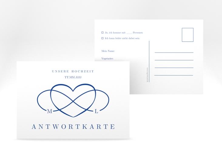 """Antwortkarte Hochzeit """"Infinity"""" A6 Postkarte"""