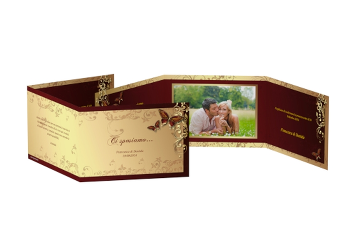 Inviti matrimonio collezione Tolosa A6 doppelt geklappt