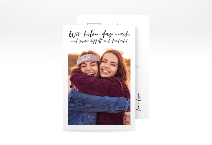 "Grußkarte ""Wiedersehen"" A6 Postkarte weiss"
