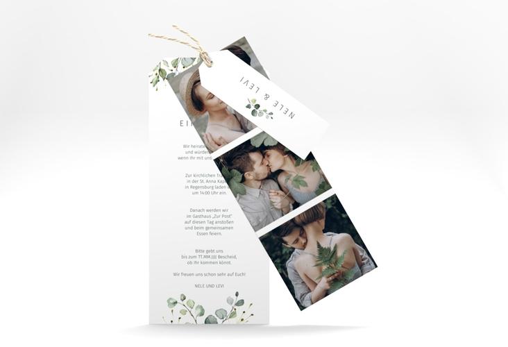 """Hochzeitseinladung """"Enchanting"""" Kartentrio weiss"""