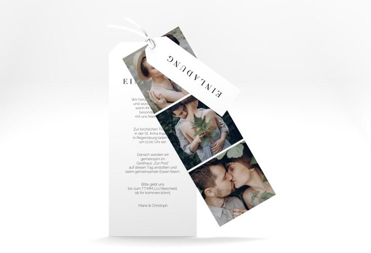 """Hochzeitseinladung """"Klarheit"""" Kartentrio"""