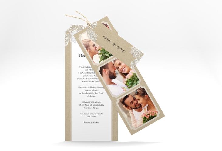 """Hochzeitseinladung """"Lace"""" Kartentrio"""