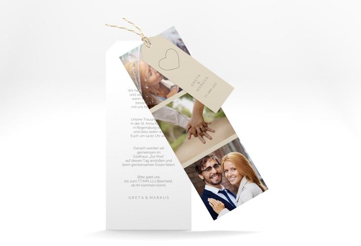 """Hochzeitseinladung """"Lebenstraum"""" Kartentrio"""