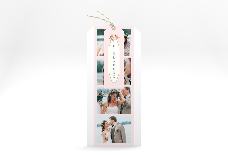 """Hochzeitseinladung """"Prachtvoll"""" Kartentrio rosa"""