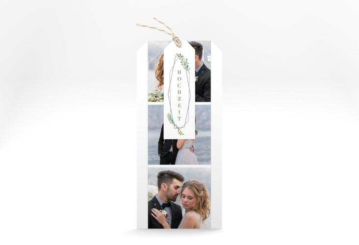 """Hochzeitseinladung """"Herbarium"""" Kartentrio grau"""