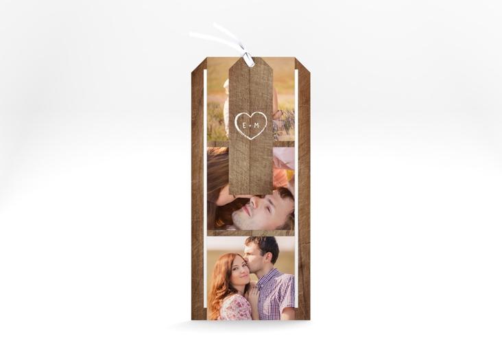 """Hochzeitseinladung """"Wood"""" Kartentrio braun"""