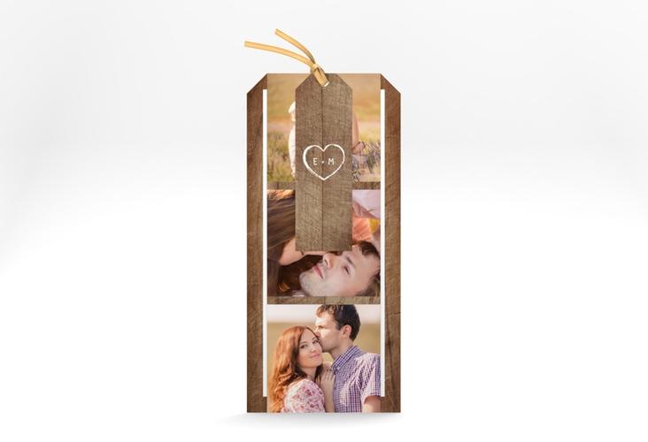 """Hochzeitseinladung """"Wood"""" Kartentrio"""