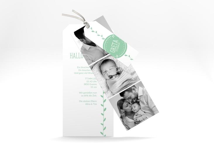 "Geburtskarte ""Unikat"" Kartentrio"