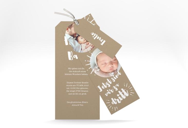 """Geburtskarte """"Erfreulich"""" Kartentrio"""