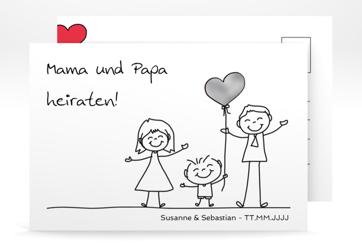 "Save the Date-Postkarte ""Family"" A6 Postkarte"