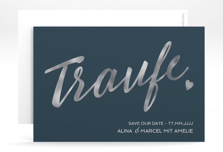 """Save the Date-Karte """"Traufe"""" A6 quer"""