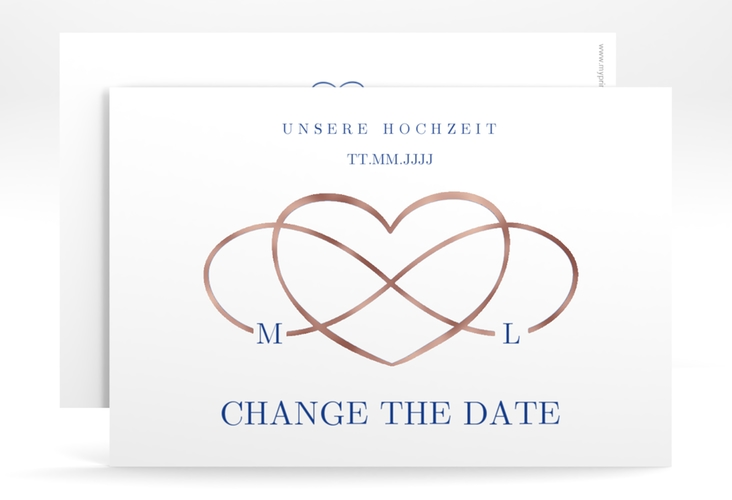 """Change the Date-Karte """"Infinity"""" A6 quer"""