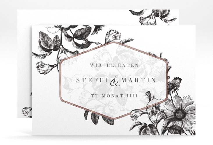 """Save the Date-Karte """"Magnificent"""" A6 quer"""