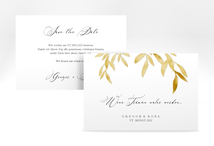 """Save the Date-Karte """"Demure"""" A6 quer"""