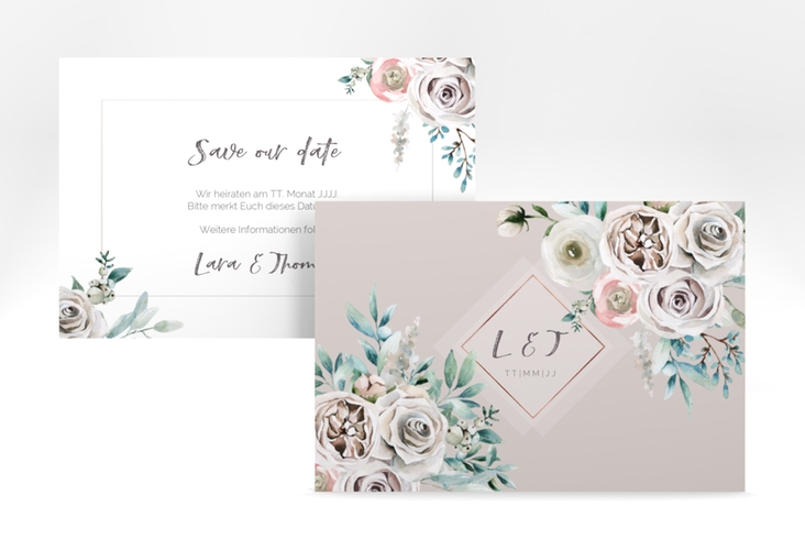 """Save the Date-Karte """"Romance"""" A6 quer"""
