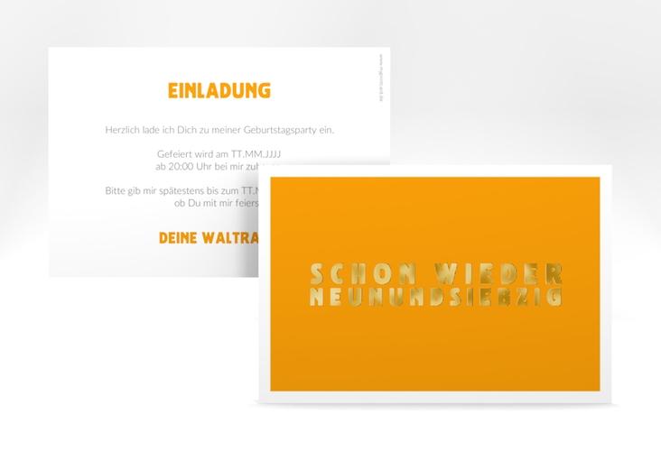 """Einladungskarte """"Gag"""" A6 quer"""