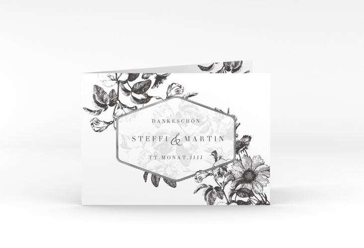 "Danksagungskarte Hochzeit ""Magnificent"" A6 Klappkarte Quer"