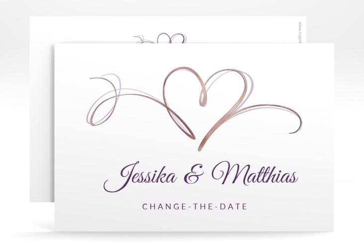 "Change the Date-Karte ""Envie"" A6 quer lila"