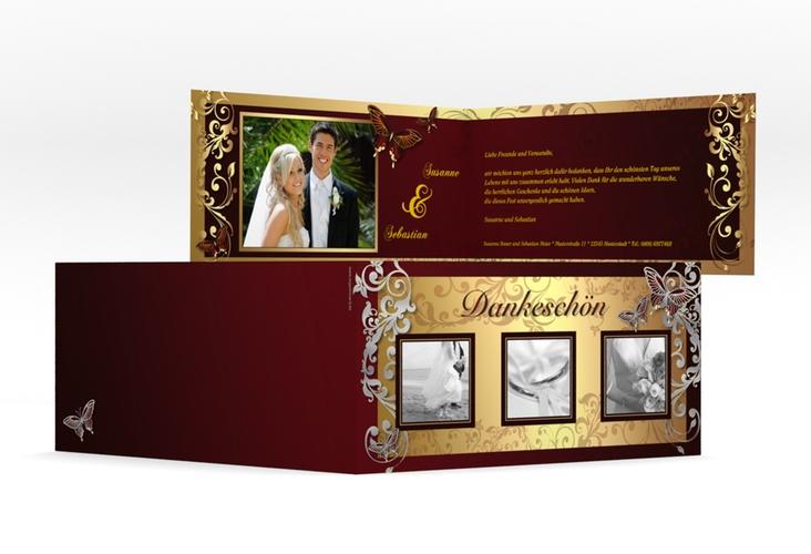 "Dankeskarte Hochzeit ""Toulouse"" DIN lang Klappkarte"