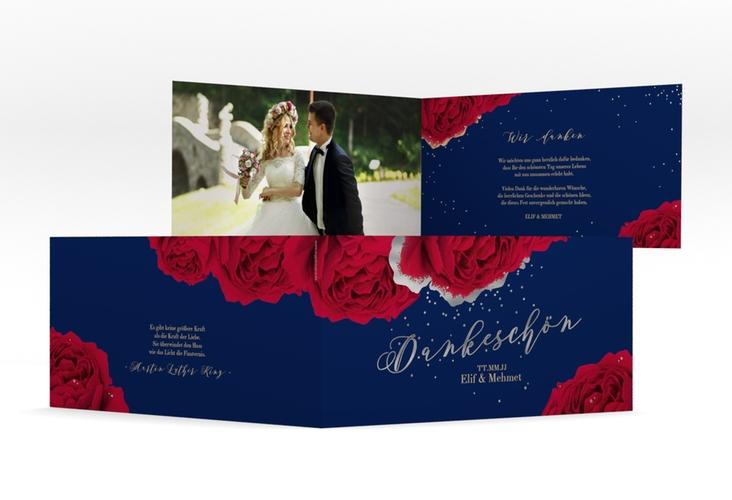 "Danksagung Hochzeit ""Cherie"" DIN lang Klappkarte"