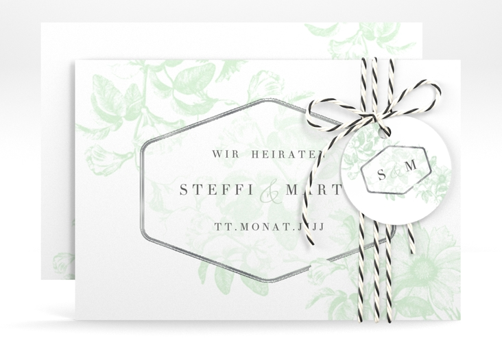 """Save the Date-Karte """"Magnificent"""" A6 quer mint"""