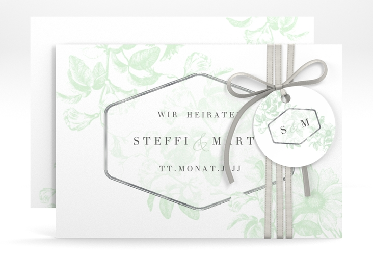 "Save the Date-Karte ""Magnificent"" A6 quer mint"