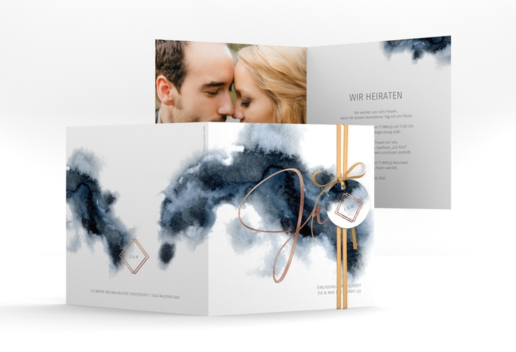 "Hochzeitseinladung ""Aquarellic"" Quadratische Klappkarte"