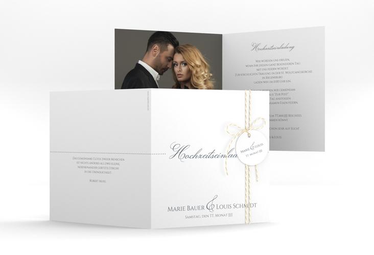 """Hochzeitseinladung """"Pure"""" Quadratische Klappkarte"""