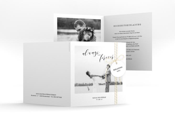 """Hochzeitseinladung """"Photoframe"""" Quadratische Klappkarte"""