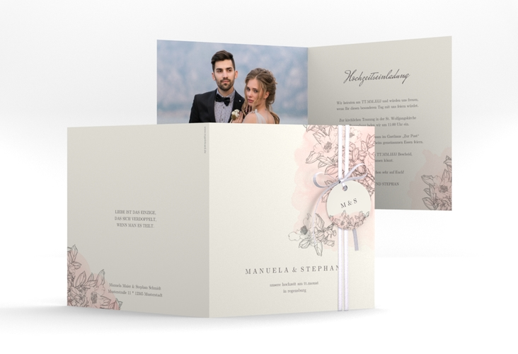 """Hochzeitseinladung """"Artlover"""" Quadratische Klappkarte"""