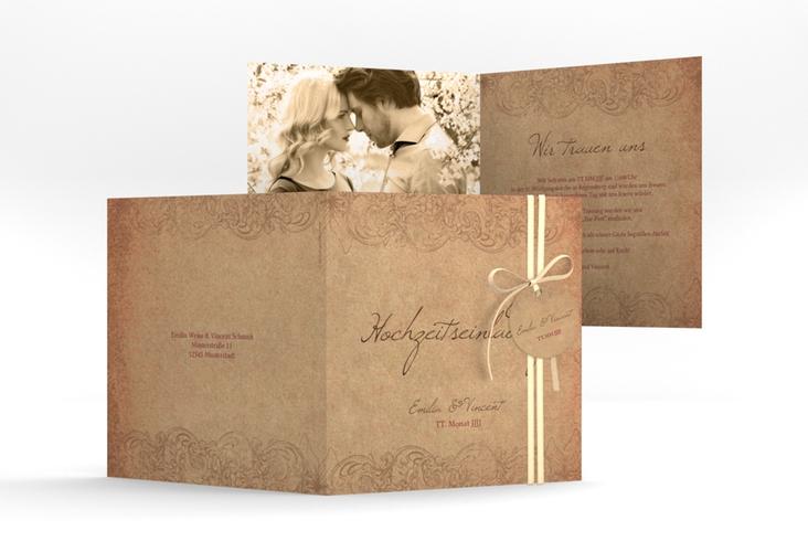 """Hochzeitseinladung """"Fairytale"""" Quadratische Klappkarte"""