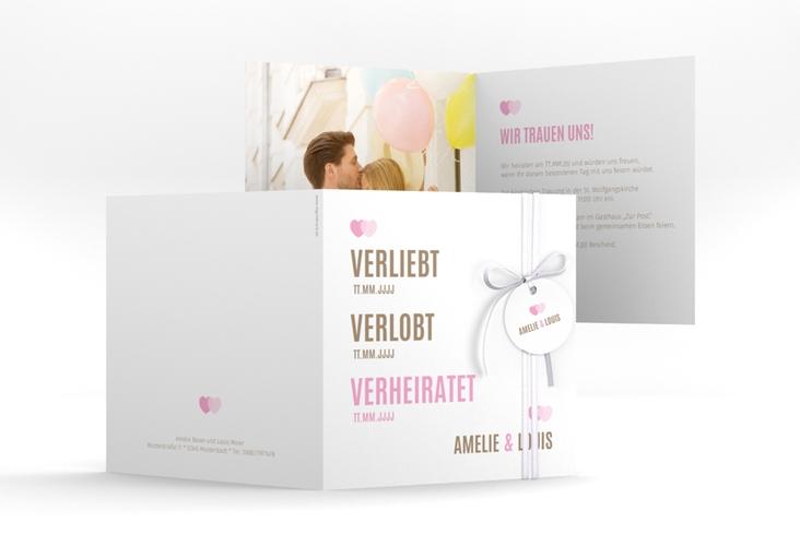 "Hochzeitseinladung ""Couple"" Quadratische Klappkarte"
