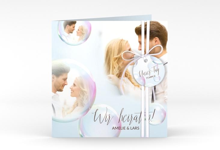 """Hochzeitseinladung """"Dreams"""" Quadratische Klappkarte"""