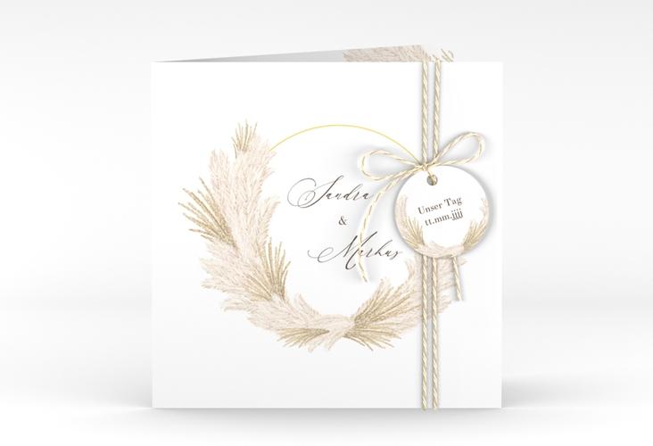 """Hochzeitseinladung """"Pumila"""" Quadratische Klappkarte"""