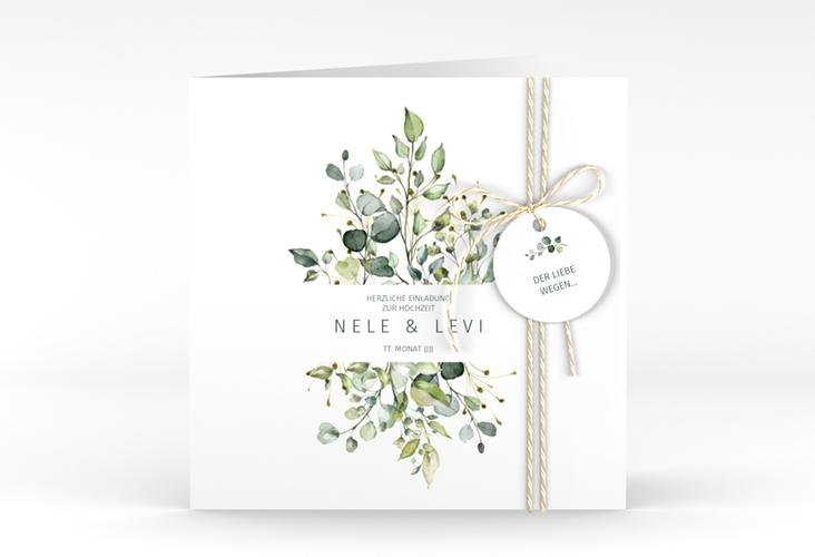 "Hochzeitseinladung ""Enchanting"" Quadratische Klappkarte"