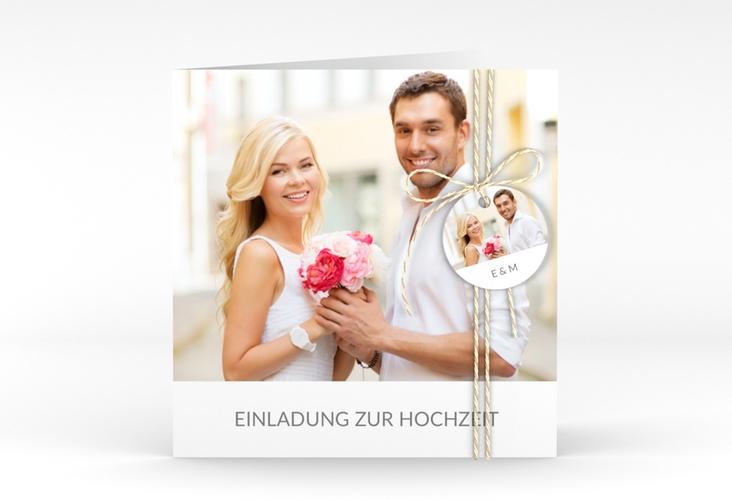 """Hochzeitseinladung """"Vista"""" Quadratische Klappkarte"""