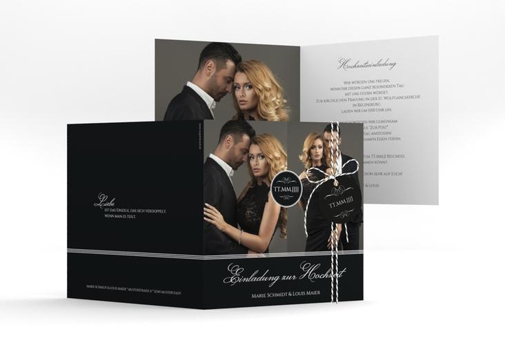 "Hochzeitseinladung ""Elegancy"" Quadratische Klappkarte"