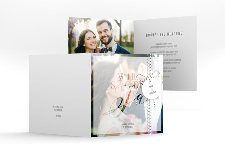 """Hochzeitseinladung """"Amazing"""" Quadratische Klappkarte"""