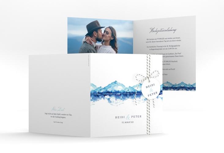 """Hochzeitseinladung """"Bergliebe"""" Quadratische Klappkarte"""
