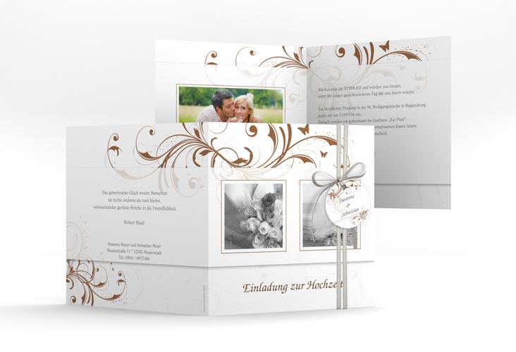 """Hochzeitseinladung """"Palma"""" Quadratische Klappkarte"""